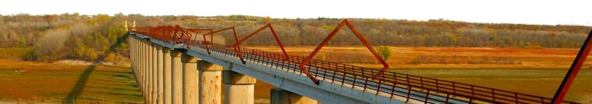 The High Trestle Trail Bridge near Woodward, Iowa by Patrick L. Wilson